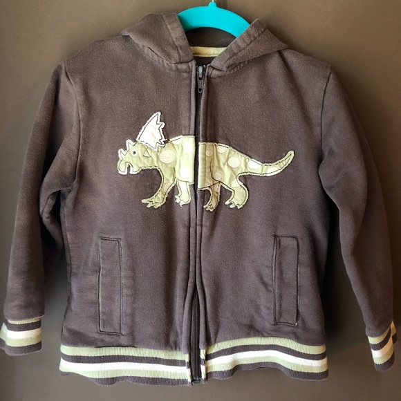 NWT Toddler Boys Zippered Hooded Sweatshirt Dinosaurs Black Green New
